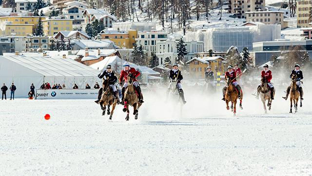 Schneepolo in St. Moritz