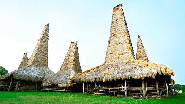 Traditionelle Häuser auf Sumba