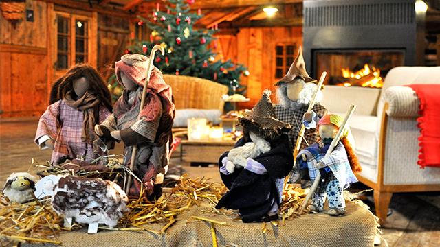 Krippenfiguren aus der Weihnachtsgeschichte