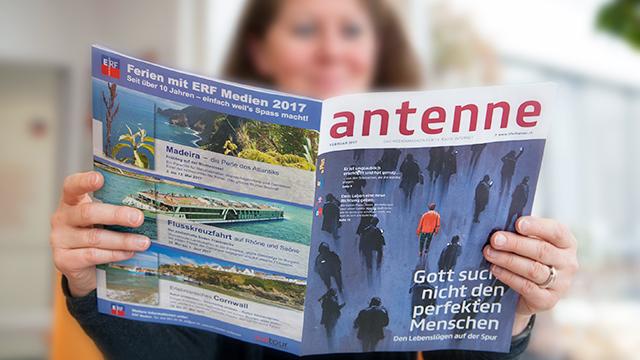 Beispielsweise im Medienmagazin antenne