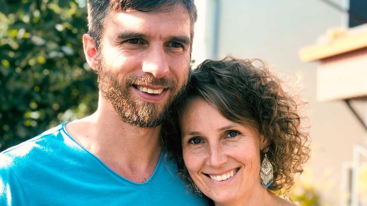 Claudia Stark mit ihrem Mann