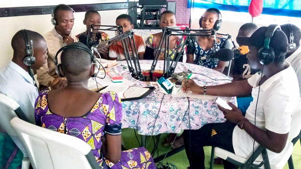 Aufnahme für die Radio-Sonntagsschule von «Mission am Nil»