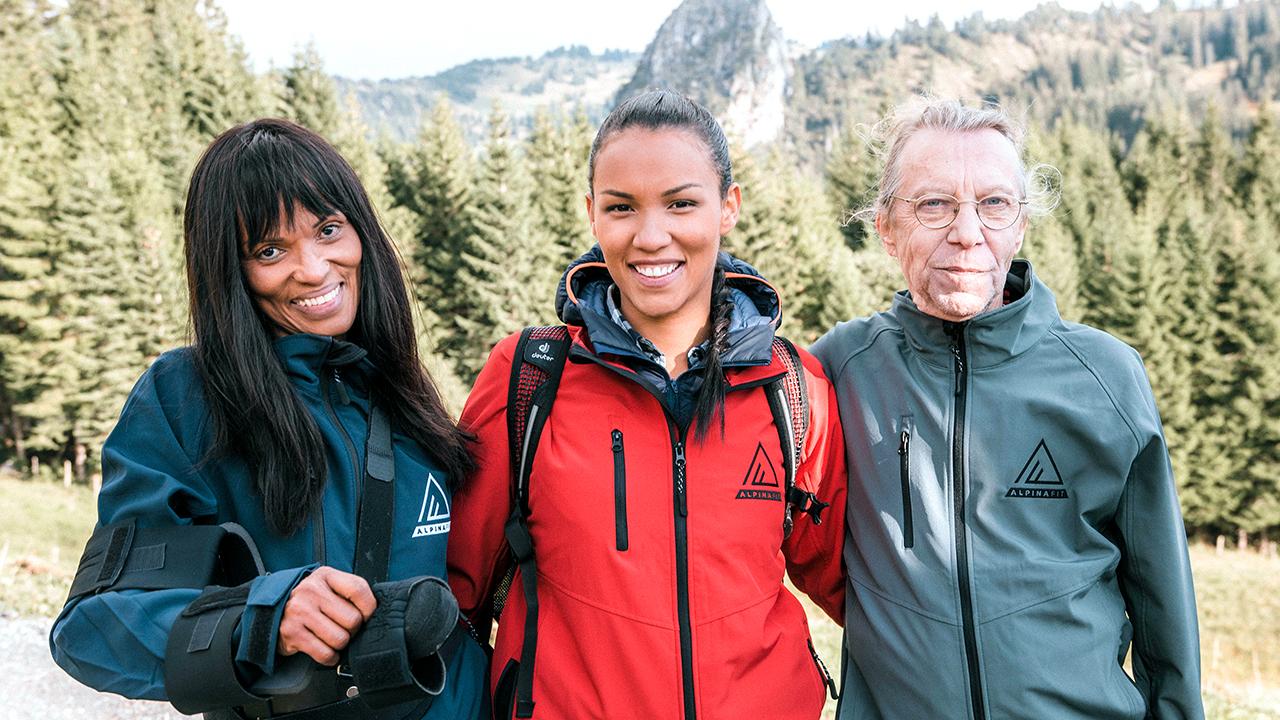 Angie Stones mit Eltern