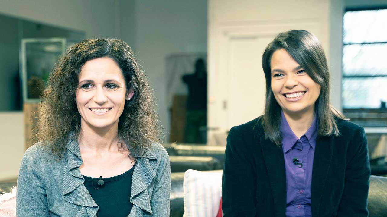 Simone Schläpfer und Katharina Stingelin