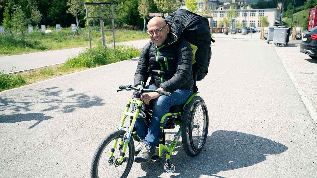Stefan Keller im Rollstuhl
