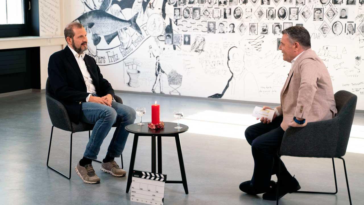 Ruedi Josuran mit Kommunikationsfachmann Giuseppe Gracia