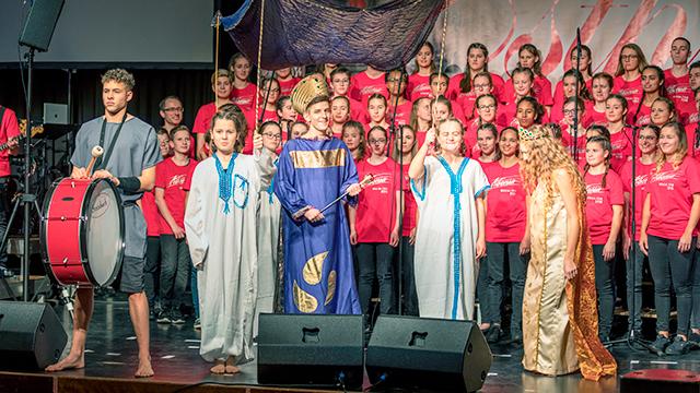 Szene aus dem Musical «Esther»
