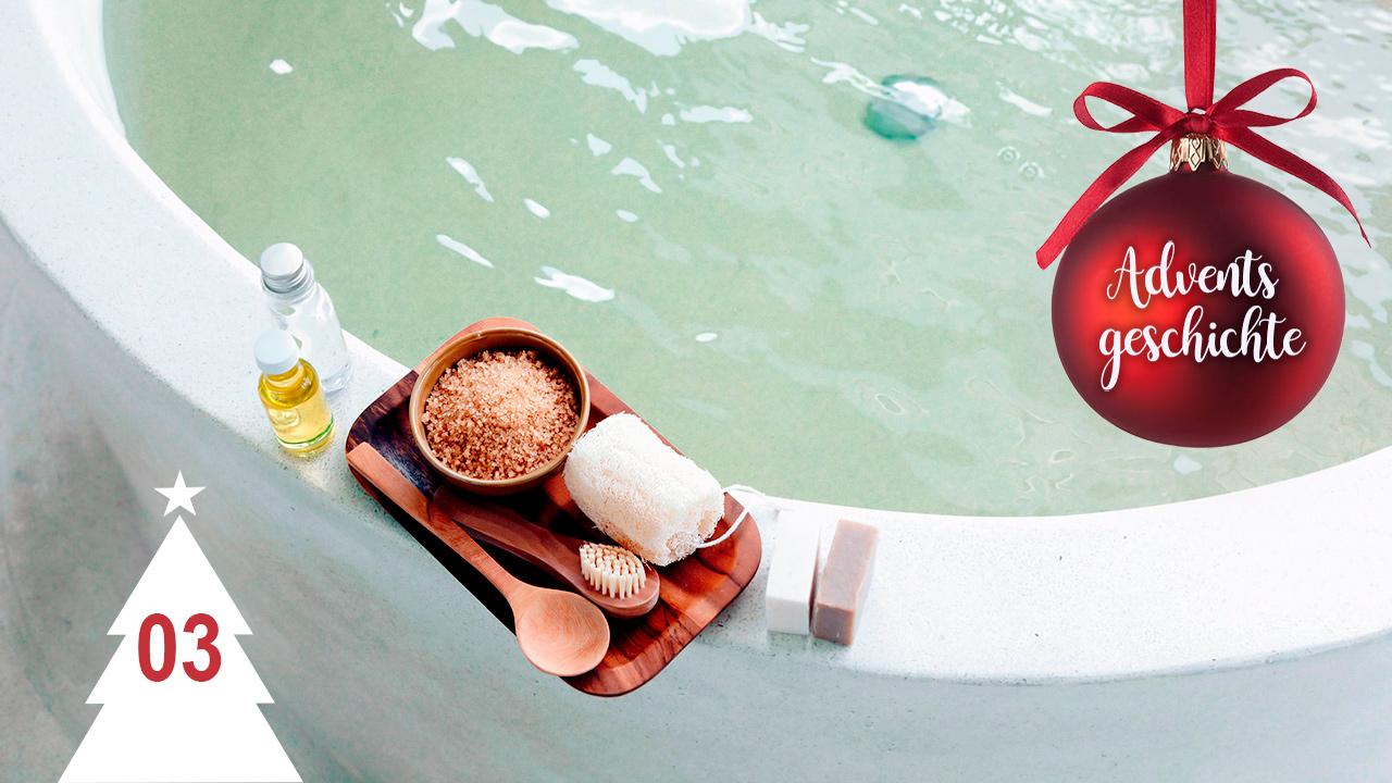 Badewanne mit Utensilien