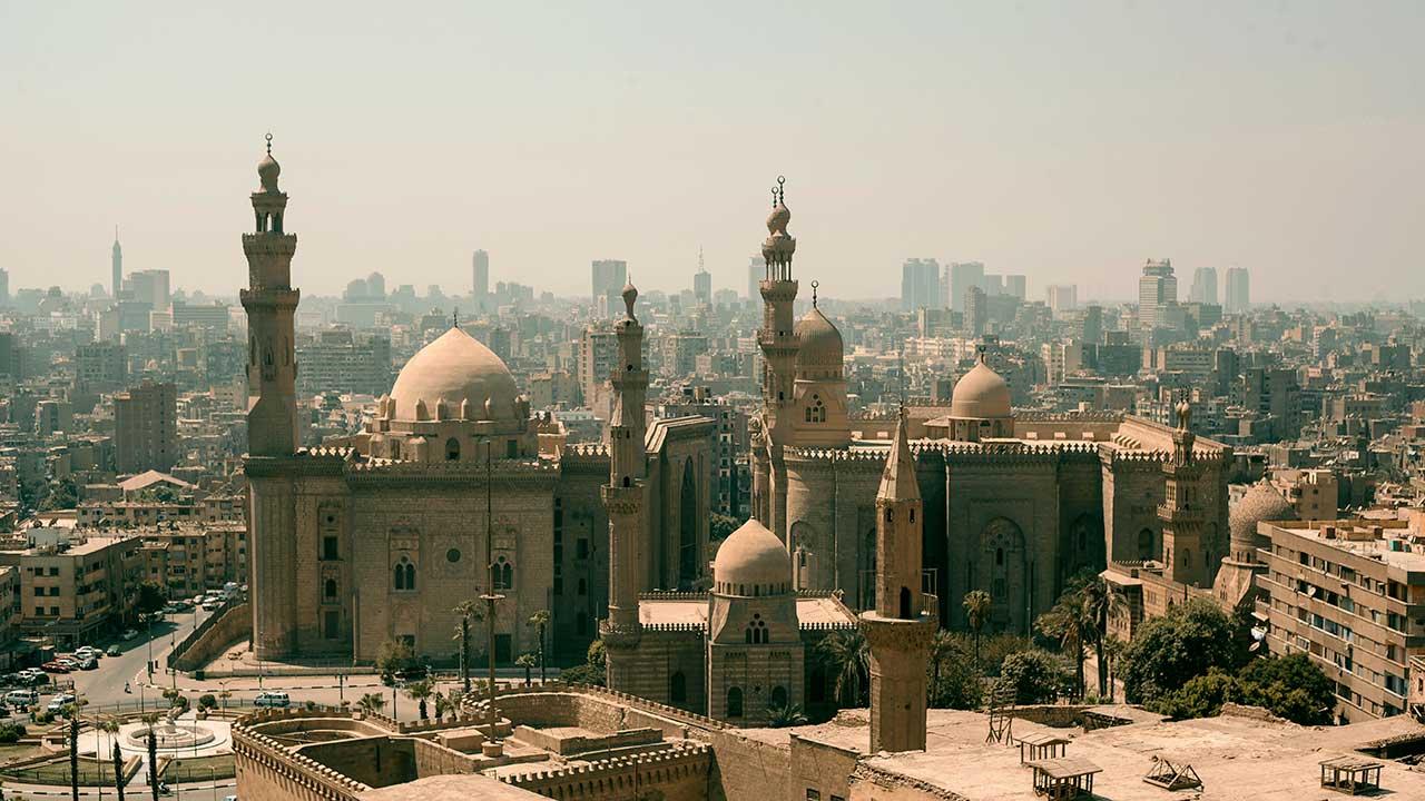 Kairo aus einer leichten Vogelperspektive