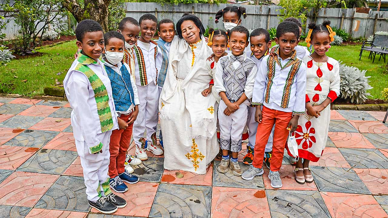 KInder im Kinderheim Selam in Addis Abeba