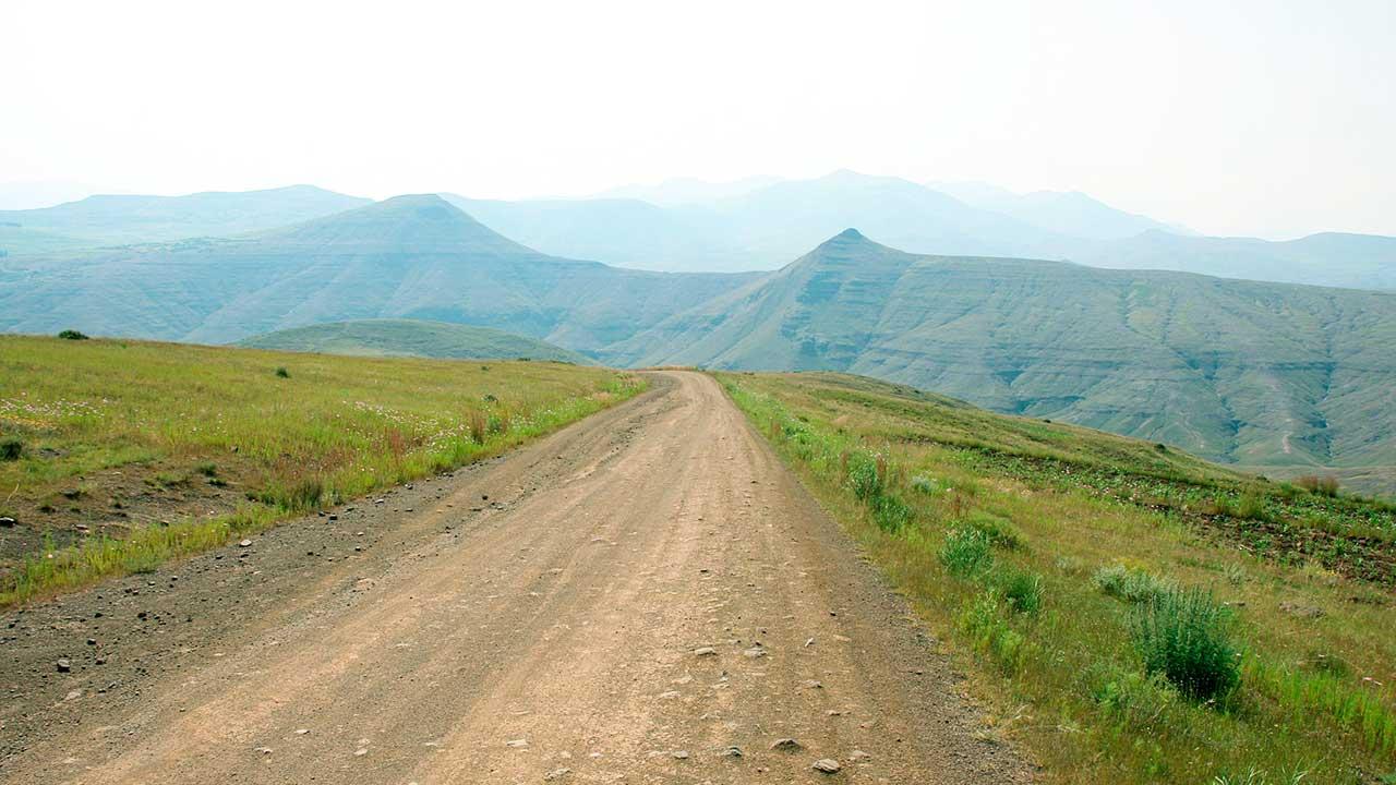 Strasse in Lesotho