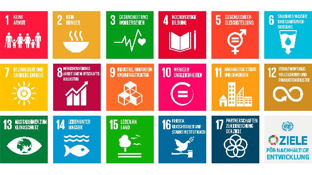 Die 17 Entwicklungsziele der Agenda 2030