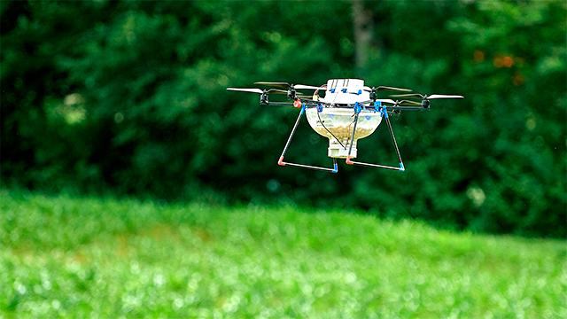 Drohne im Einsatz zur Schädlingsbekämpfung