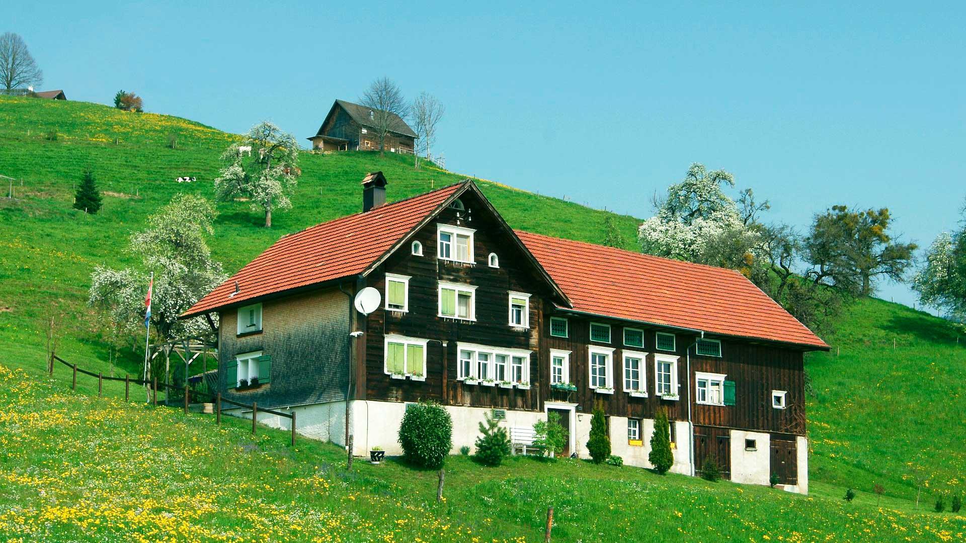 Bauernhof im Gätziberg oberhalb von Altstätten