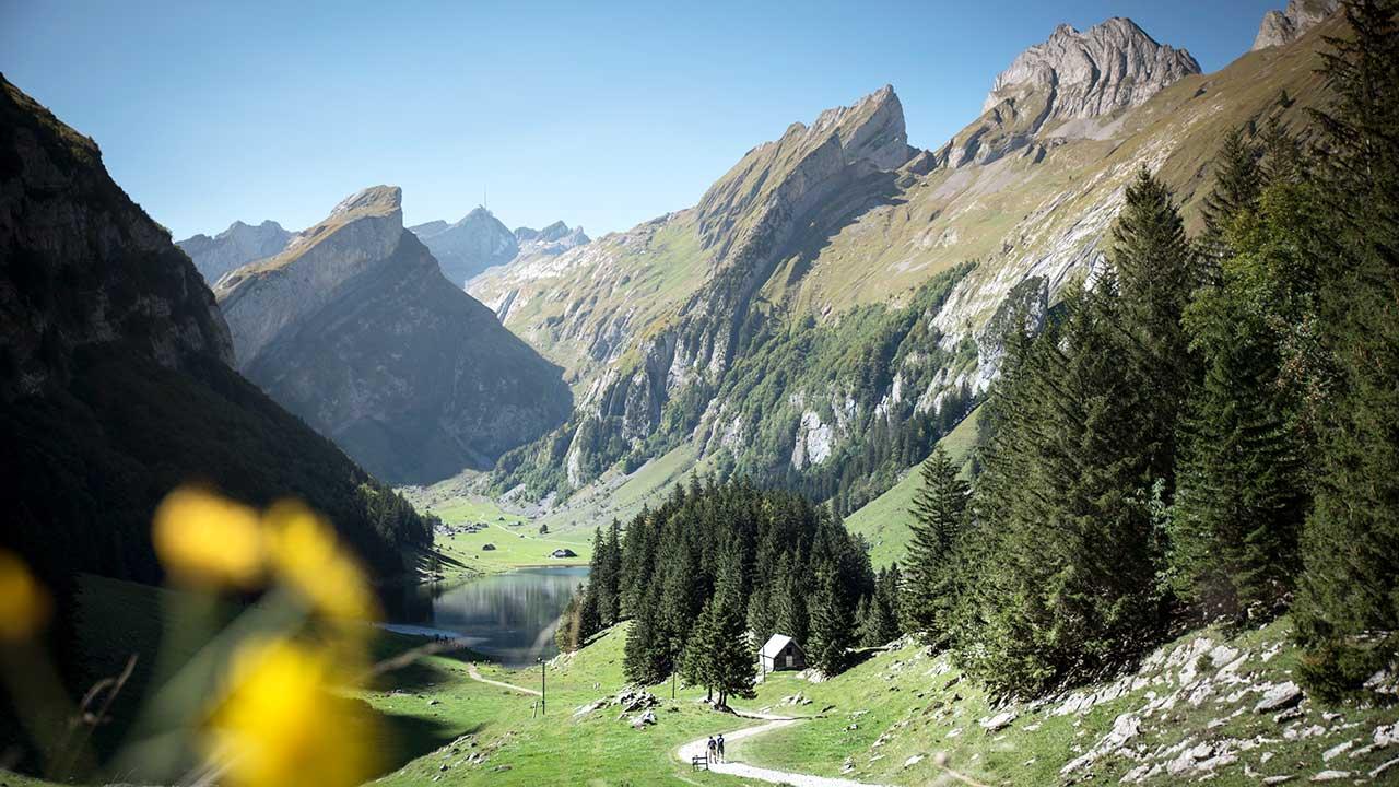 Seealpsee mit Alpstein im Hintergrund