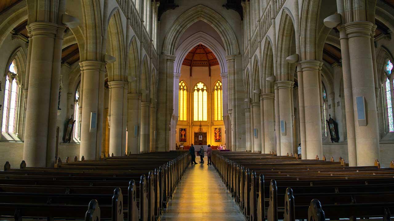 Im Innern einer Kirche in Ballarat, Victoria, Australien