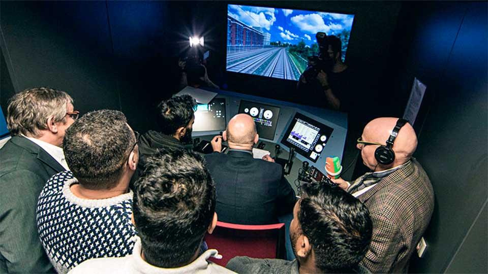 Im Simulator-Raum | (c) Paul Gärtner/Verkehrsministerium Baden-Württemberg