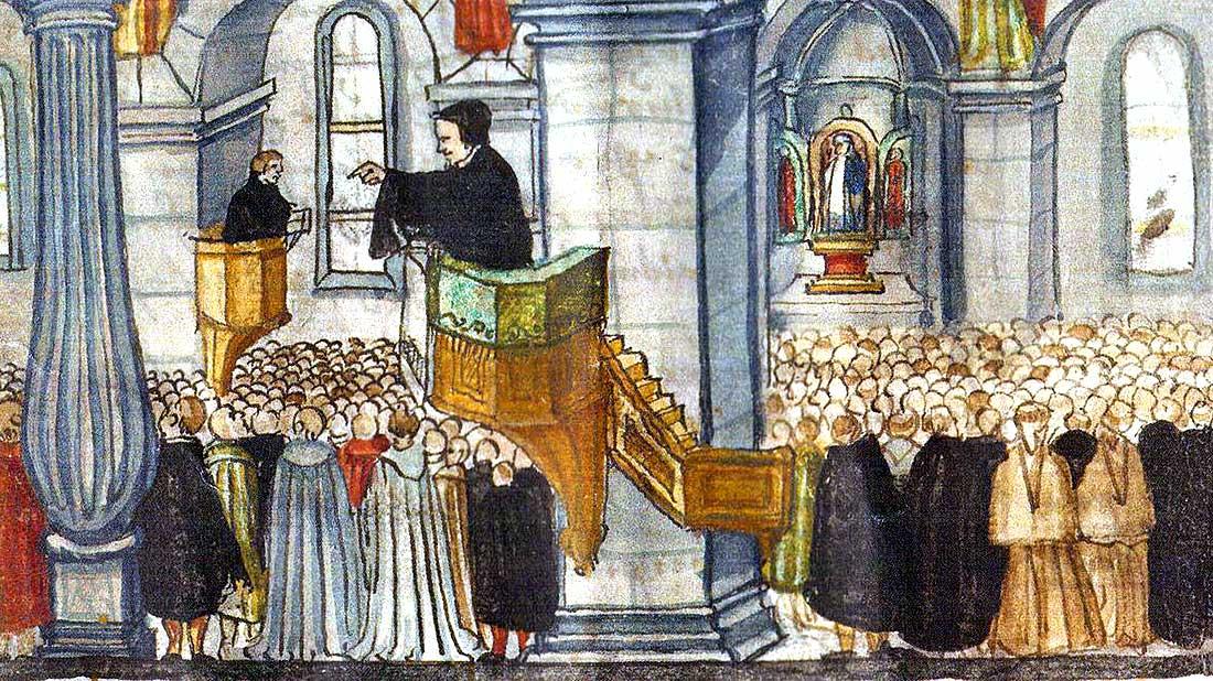 Badener Disputationi: Ausschnitt aus der Reformationschronik von Heinrich Bullinger