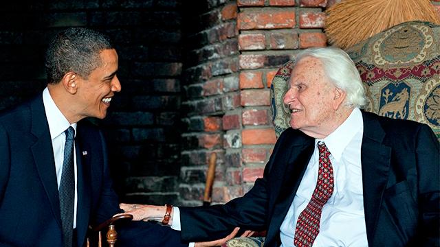 Billy Graham mit Barack Obama