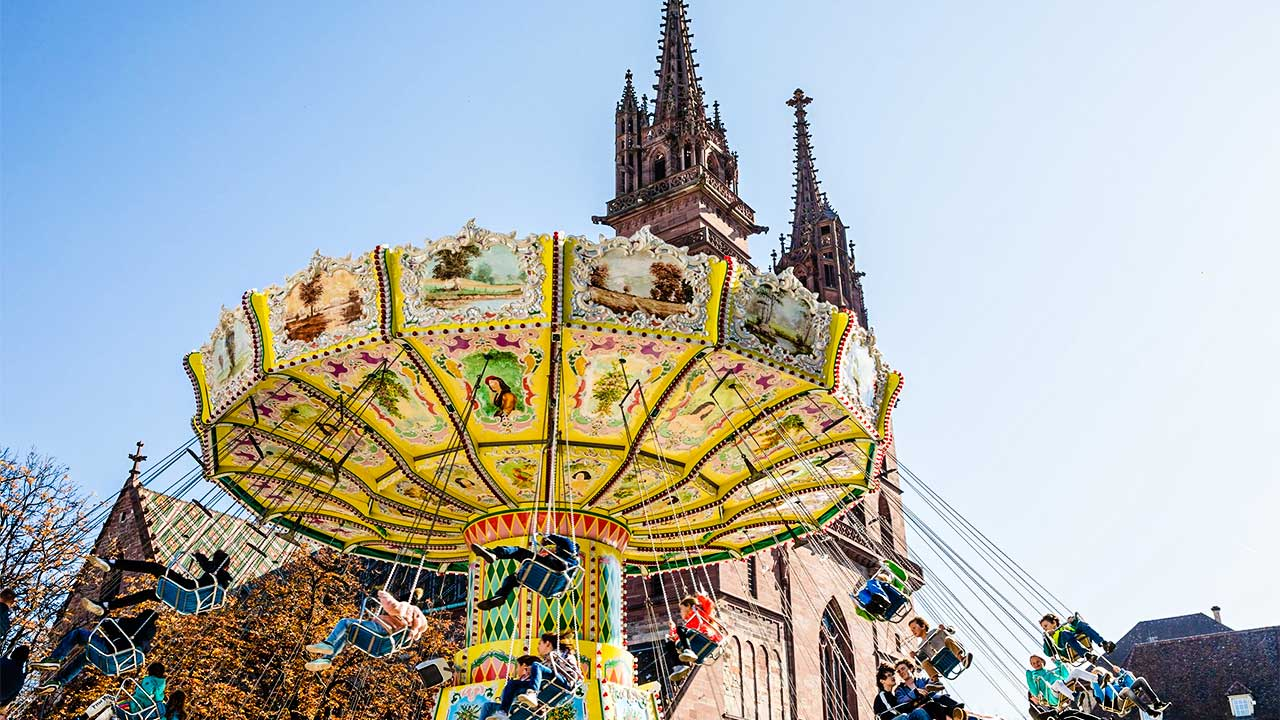 Karussell an der Basler Herbstmesse 2021