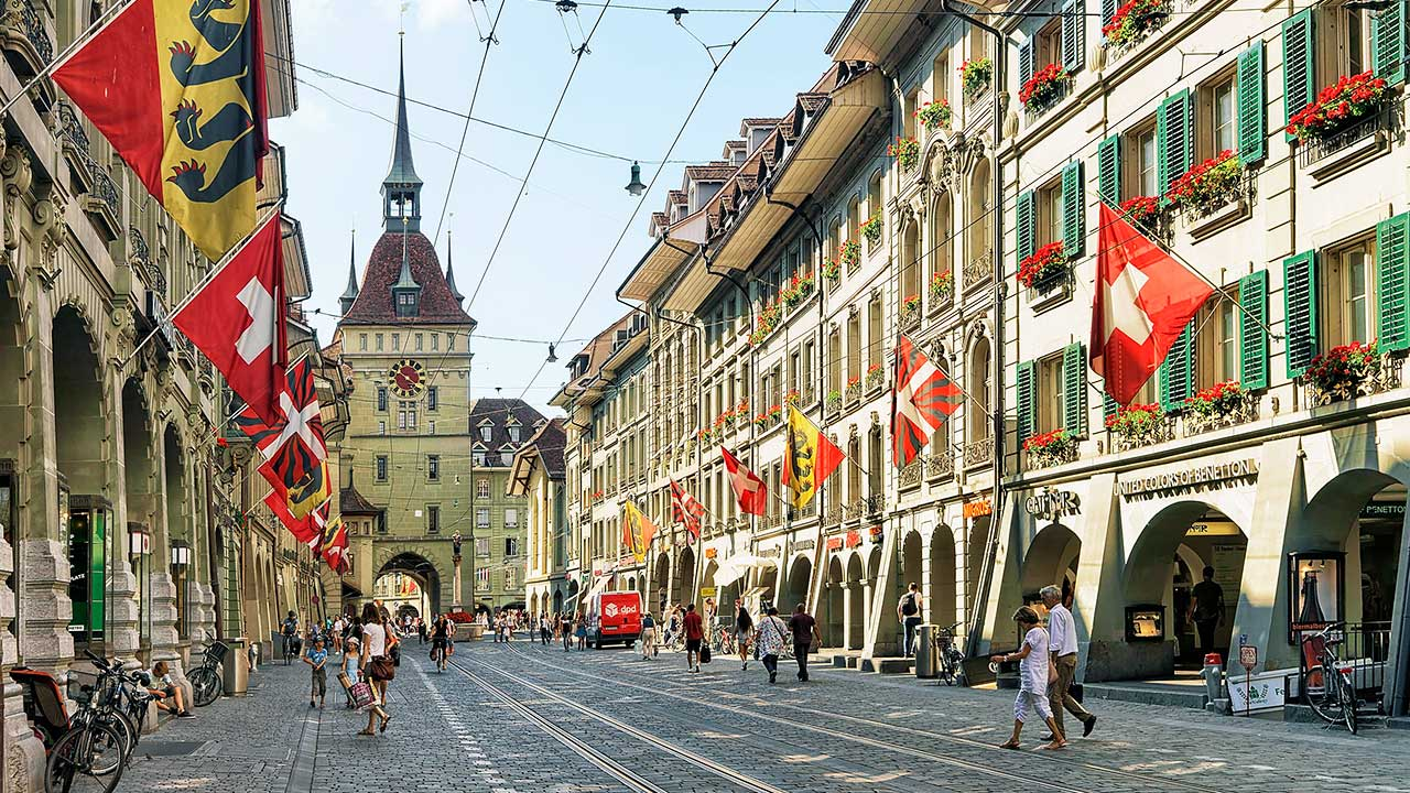 Marktgasse in der Berner Altstadt