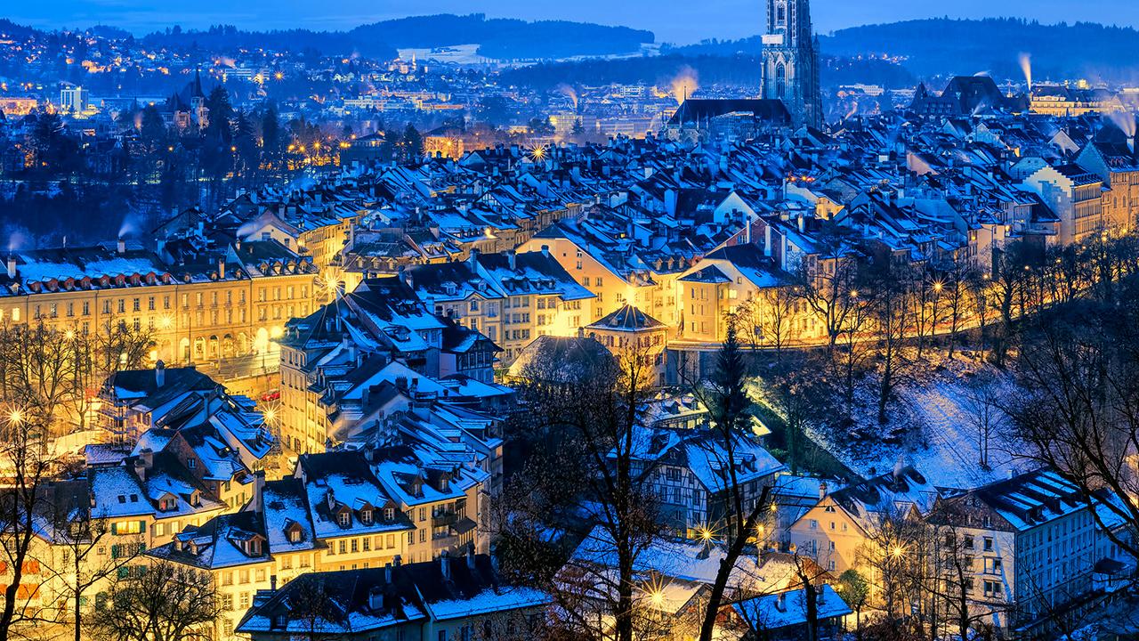 Winterliche Berner Altstadt