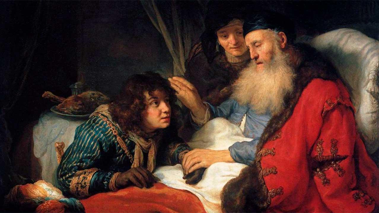 Gemälde von Govert Flinck: Isaak segnet den verkleideten Jakob