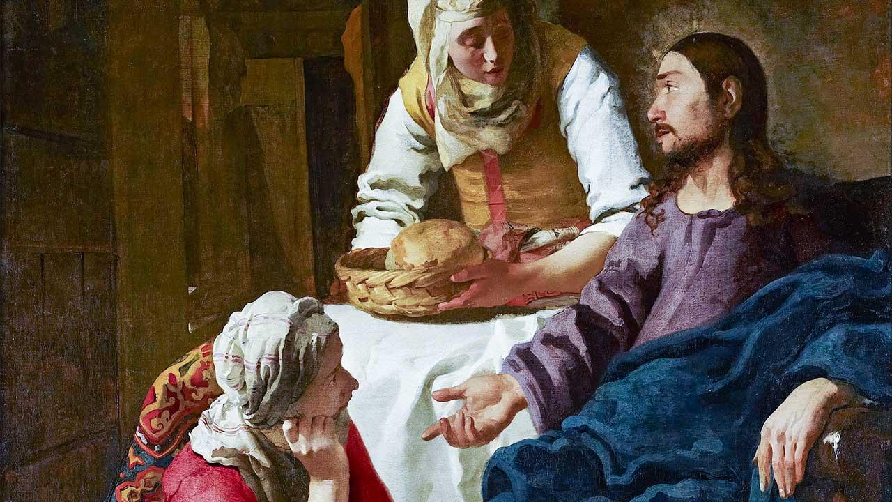 Gemälde «Christus bei Maria und Martha» von Jan Vermeer