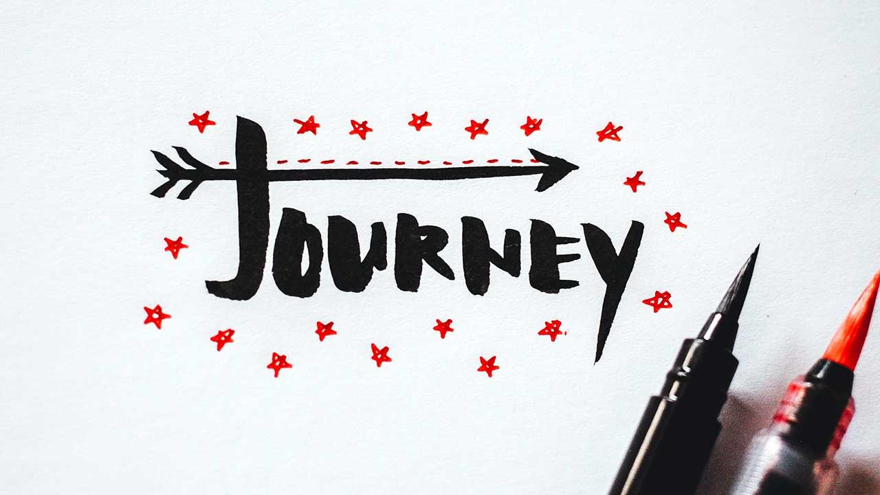 «Journey» als Handlettering
