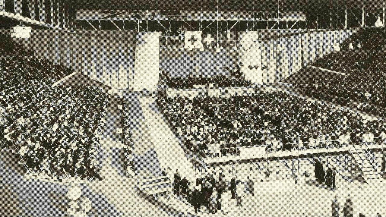 75-Jahr-Feier des Blauen Kreuzes 1952 im Hallenstadion Zürich