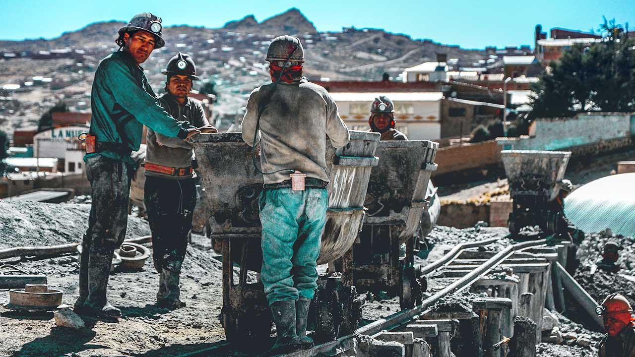 Minenarbeiter in Potosi, Bolivien