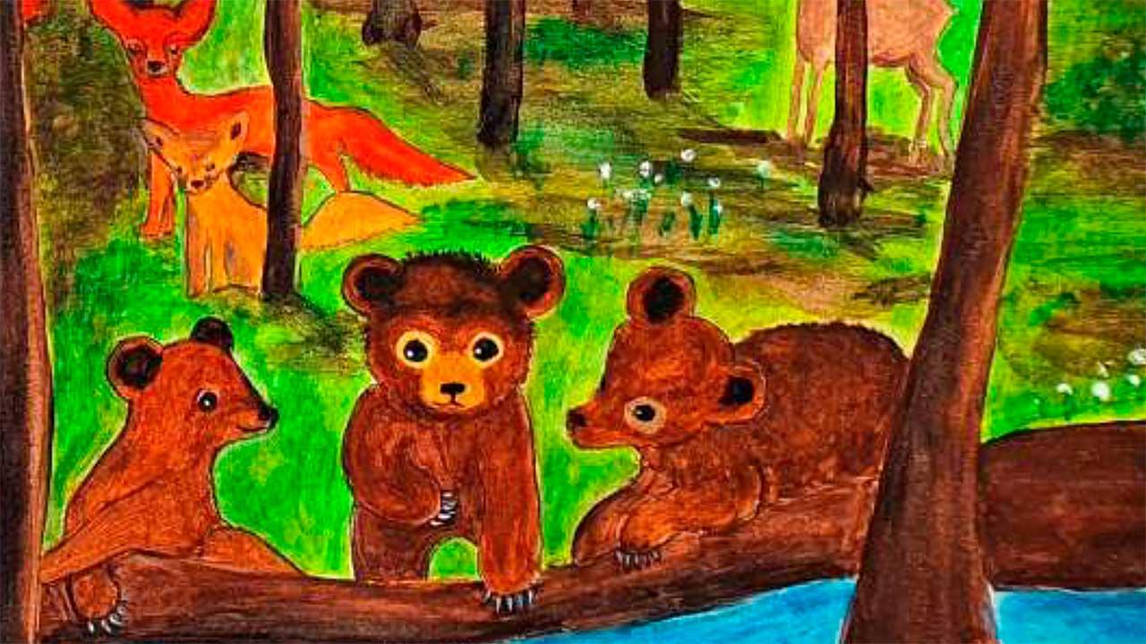 Szene aus dem Buch «Aufregung im Wunderwald» von Björn Enno Hermans