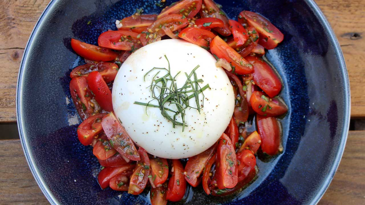 Burrata mit Tomaten