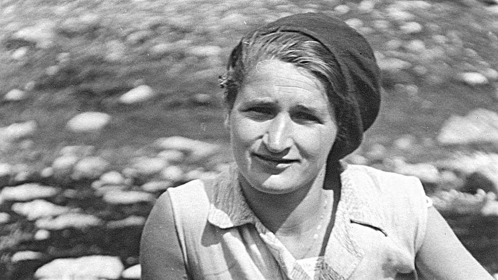 Greti Caprez-Roffler an ihrem 25. Geburtstag 1931