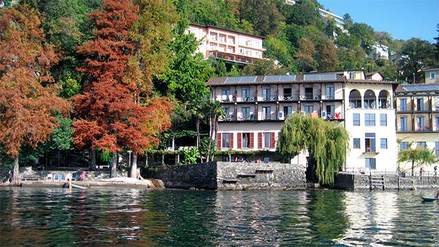 Casa Moscia vom See aus gesehen