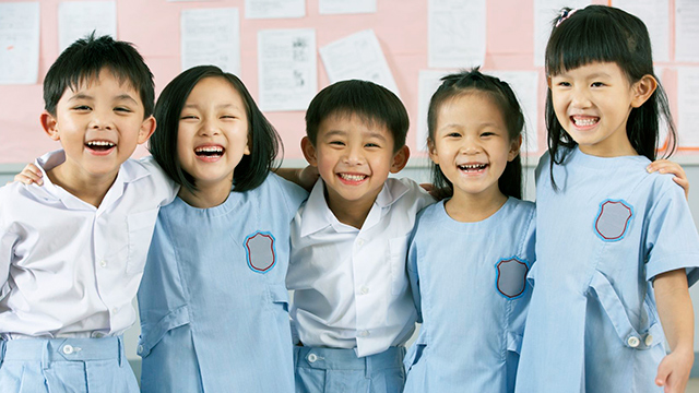 Chinesische Schulkinder