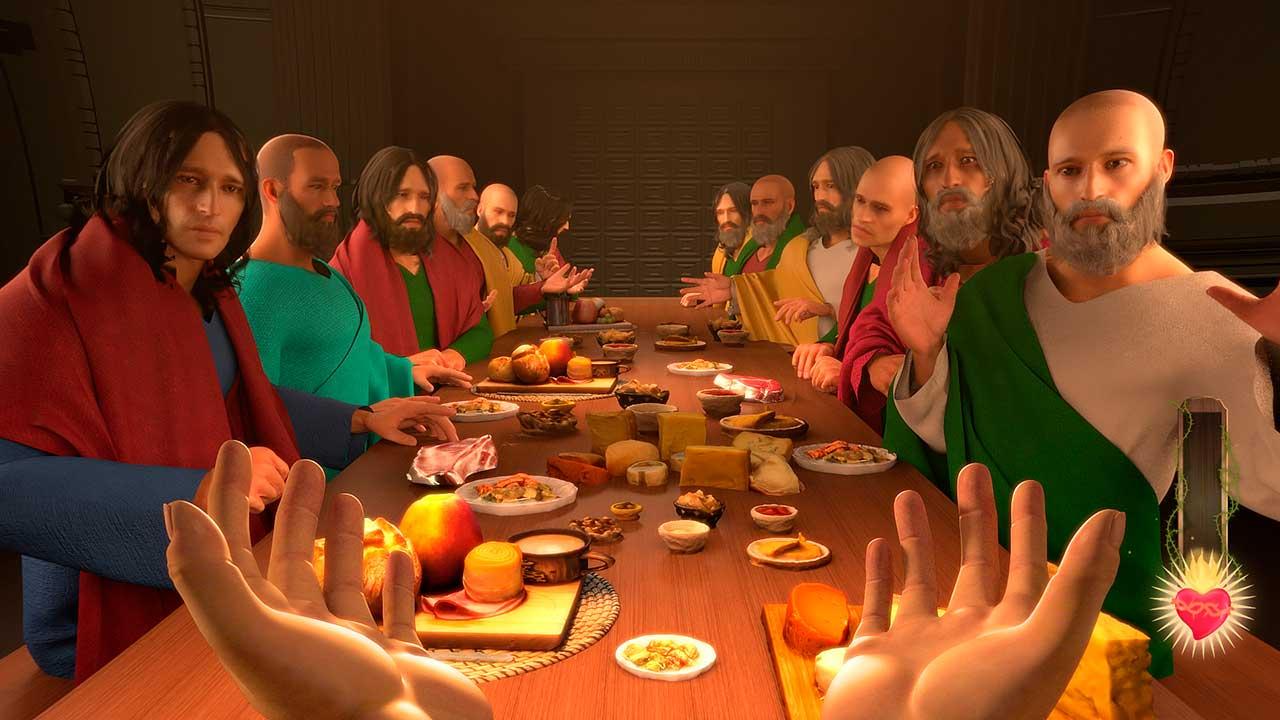 Szenenbild mit Abendmahl aus dem dem Computerspiel «I Am Jesus Christ Szenenbild»