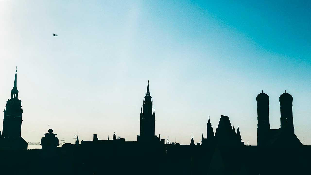 Silhouette der Münchner Innenstadt
