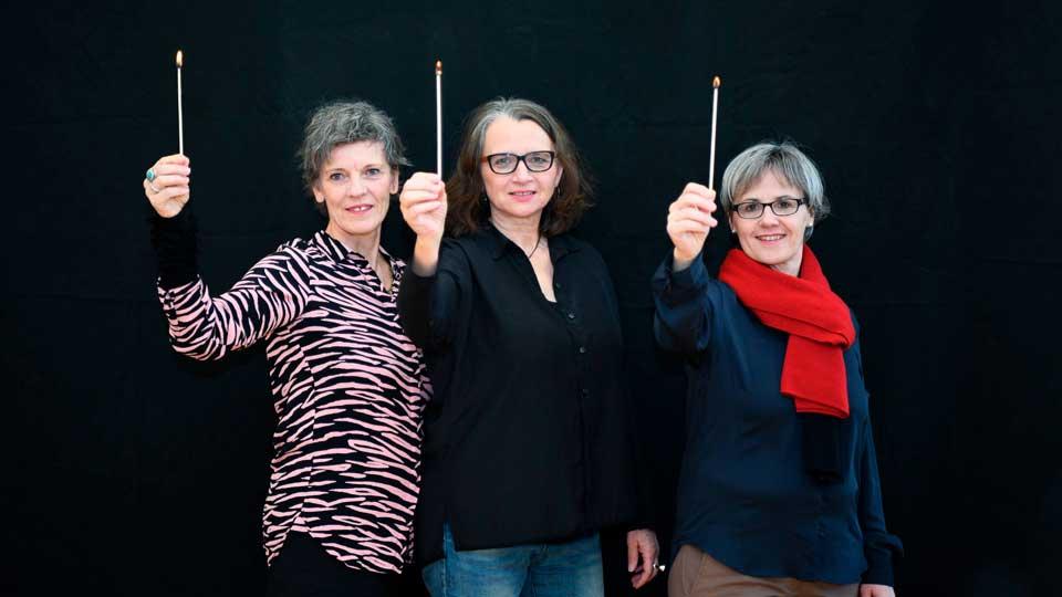 Die drei Gründungsmitglieder der Tanten