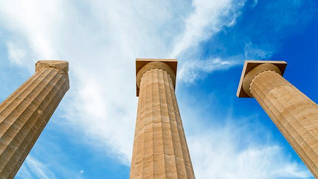Drei Säulen