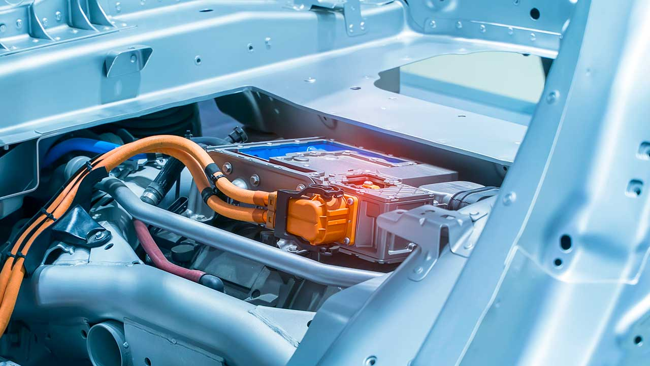 Lithium-Batterie eines Elektroautos
