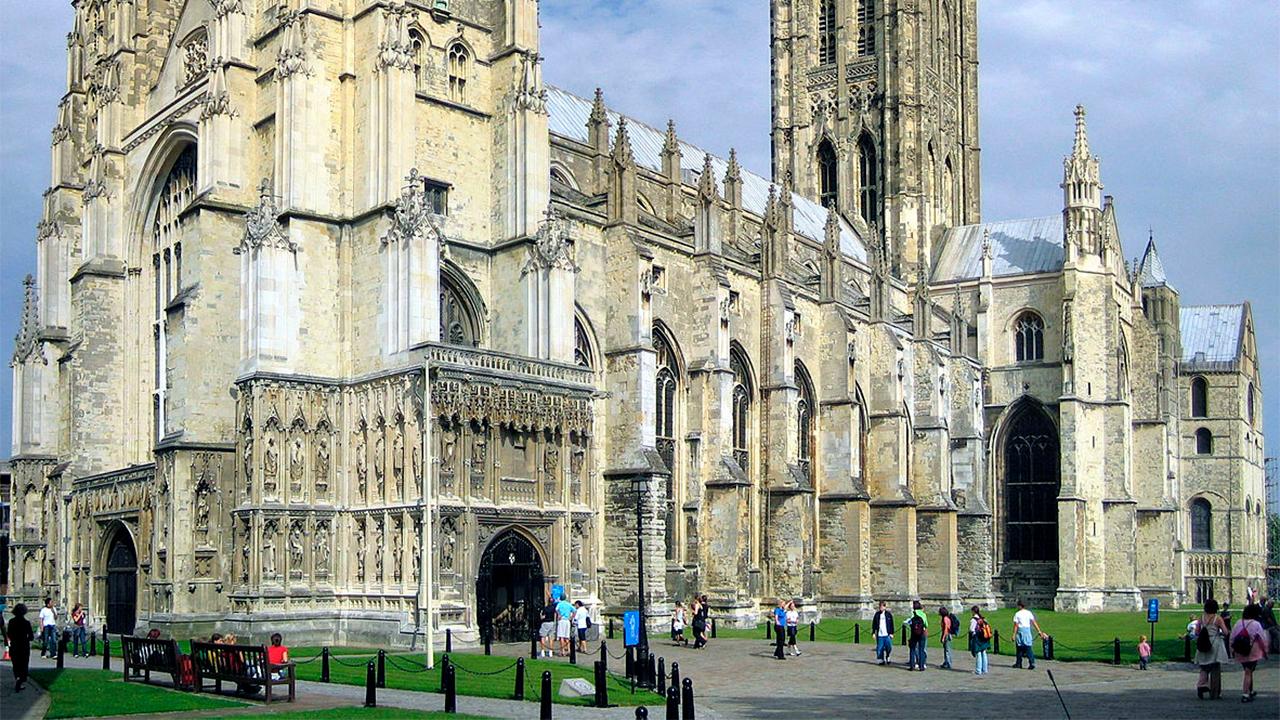 Besuch von aussen: Kathedrale von Canterbury