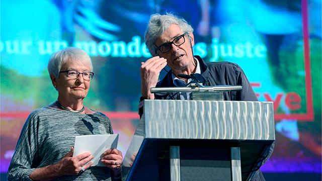 Annemarie Holenstein und François de Vargasm, die ersten Sekretäre