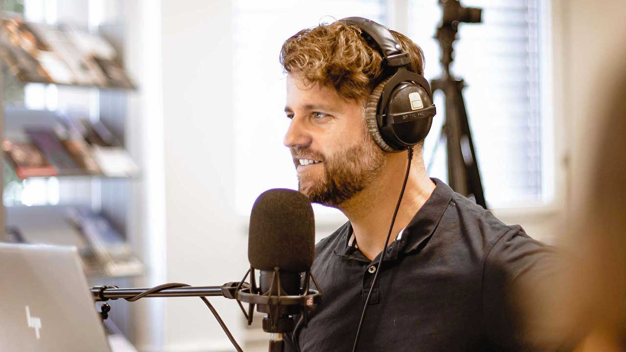 Andreas Boppart bei der Aufnahme seines Podcasts