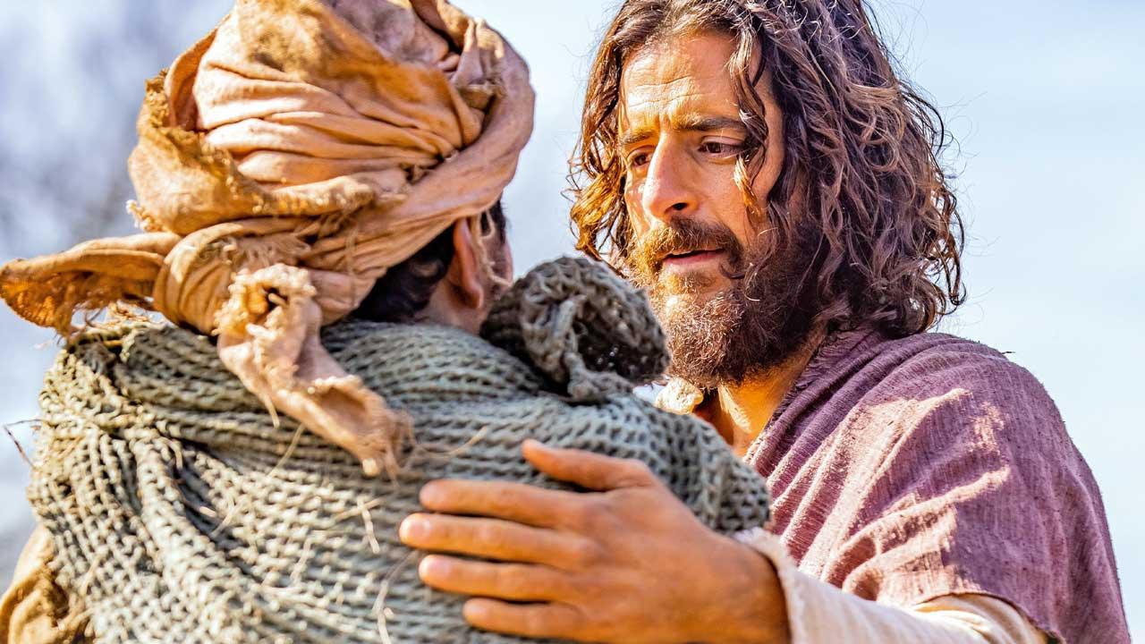 Szene mit Jesus aus der Fernsehserie «The Chosen»