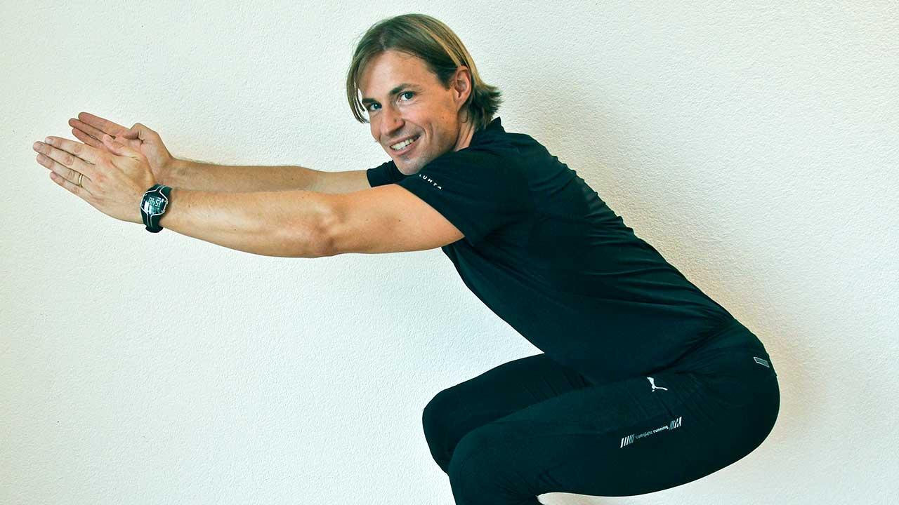 Fitnesstipp schnelle Kniebeuge
