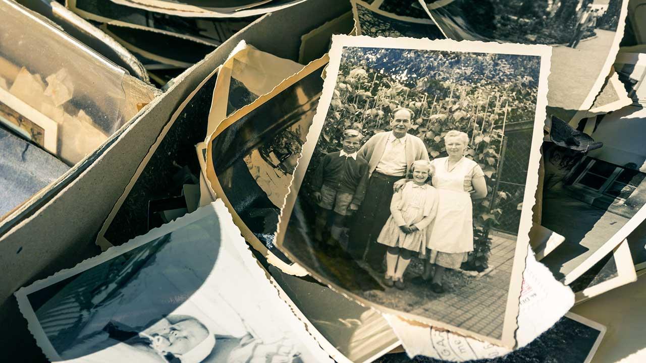 alte schwarz-weiss Fotos
