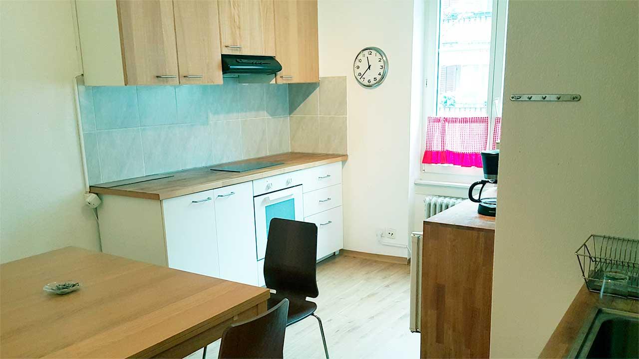 Küche des «Haus Zueflucht» der Franziskanischen Gassenarbeit