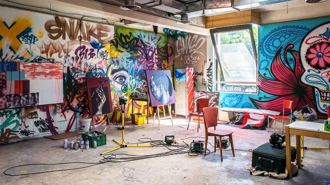 Künstleratelier in Frankreich