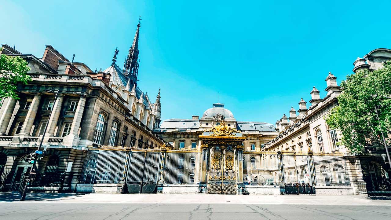 Palais de Justice in Paris, Frankreich